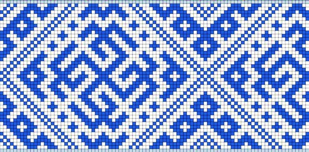 140Орнамент для вышивки на поясе