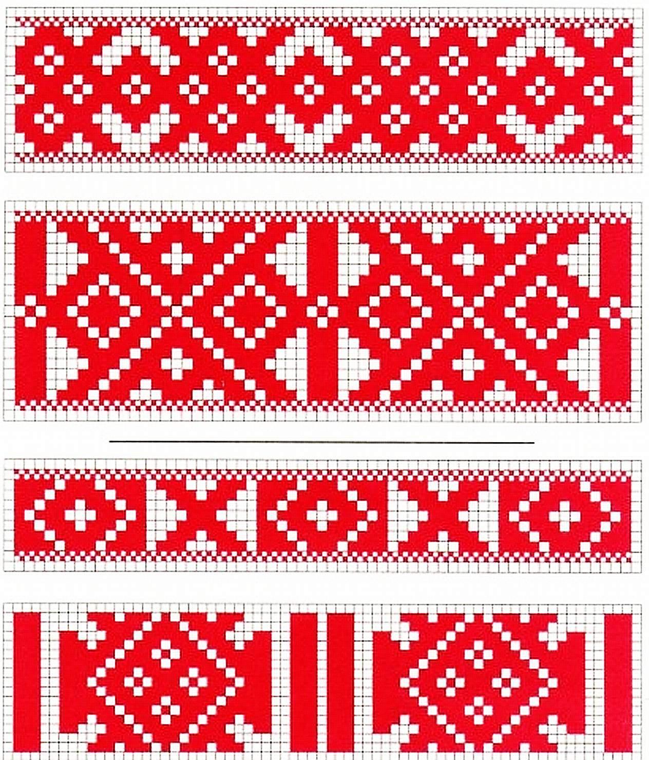 Символические орнаменты для вышивки