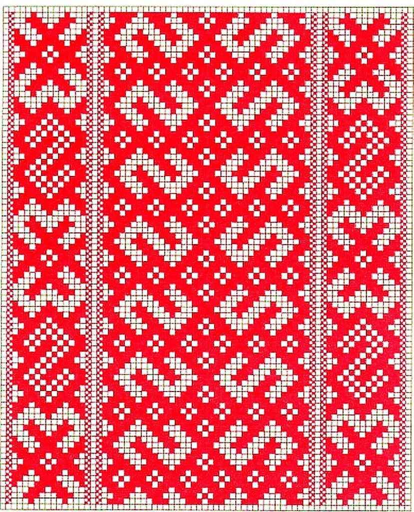 Белорусский орнамент вышивка схема